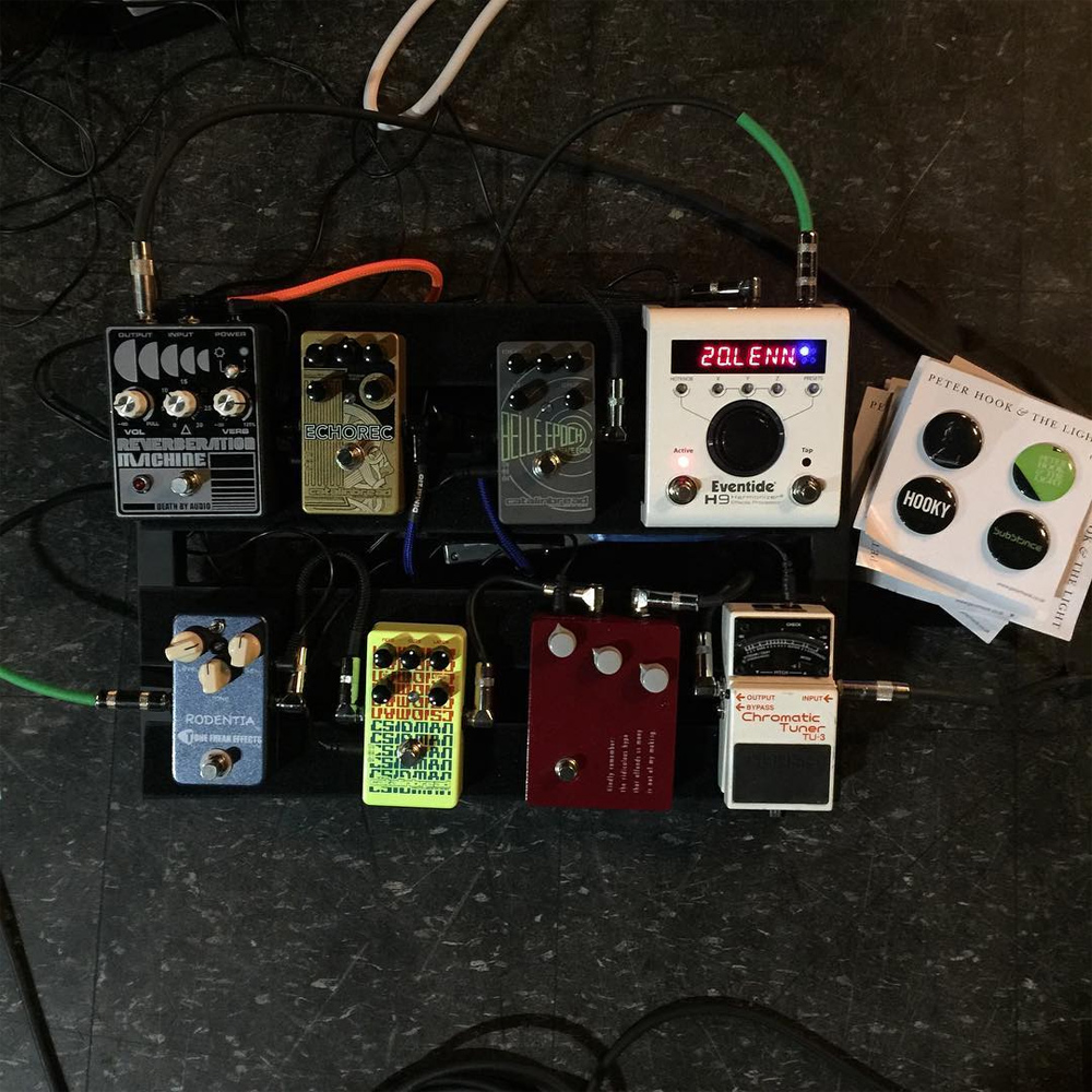 Jeff Schroeder's board for Peter Hook and the Light
