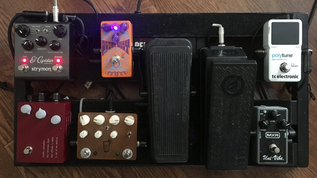 Pedalboard for Emmett Miller of Diarrhea Planet