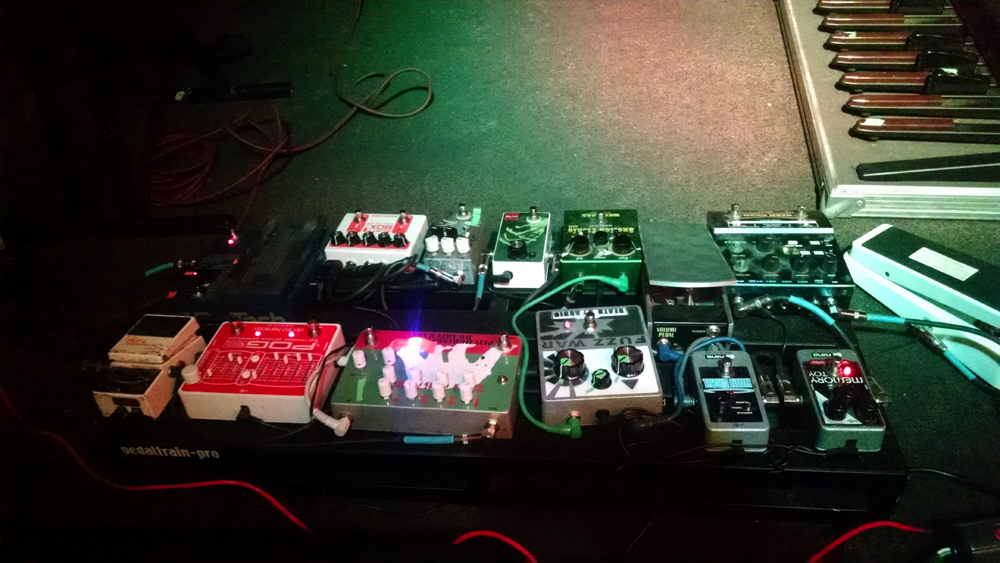 Russian Circles - Brian Cook - Pedalboard