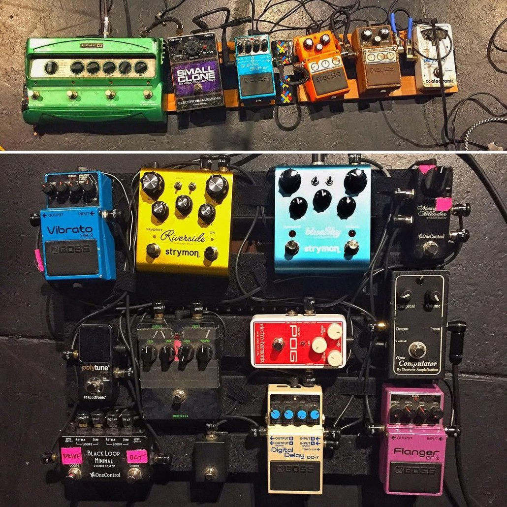 Pedalboards of Pinback!