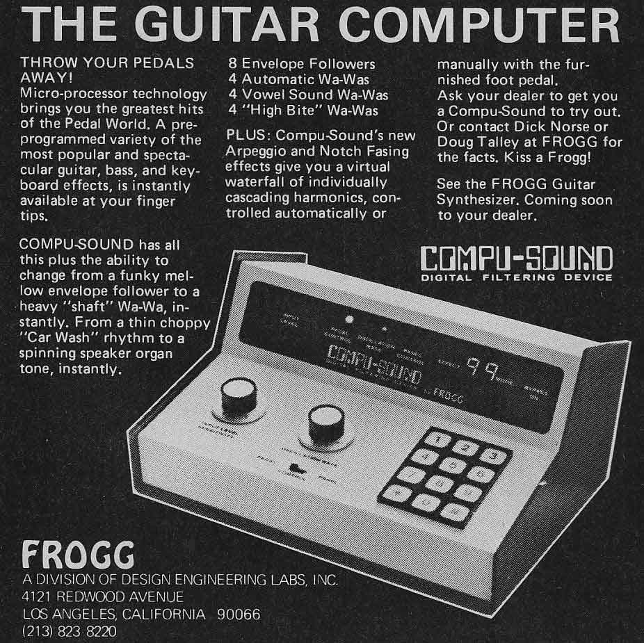 Guest Post: Ode to the Frogg Compu-Sound