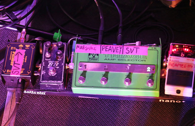 Pedalboards of J Mascis and Lou Barlow of Dinosaur Jr.