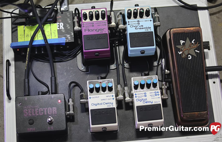 Shaun Morgan and Dale Stewart - Seether Pedalboards