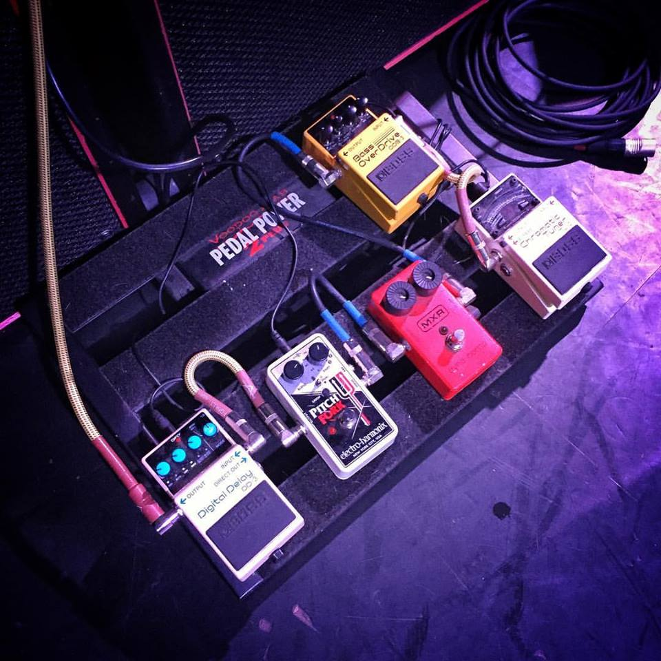 King Buzzo - The Melvins - Pedalboard