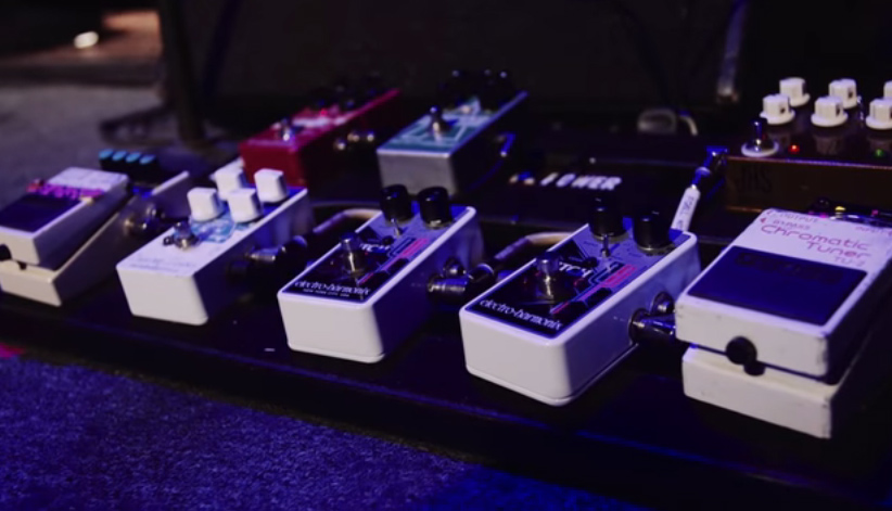 Pedalboard of Theresa Wayman (Warpaint)