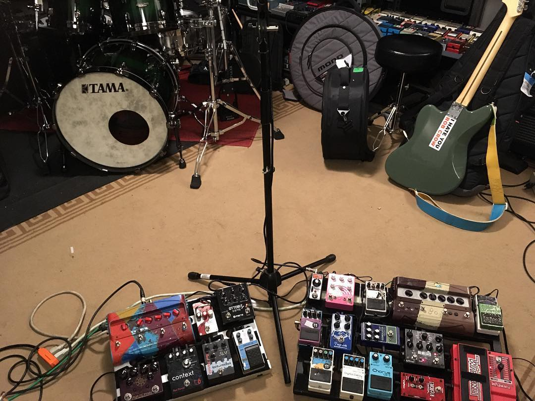 Pedalboard of Nick Reinhart of Tera Melos