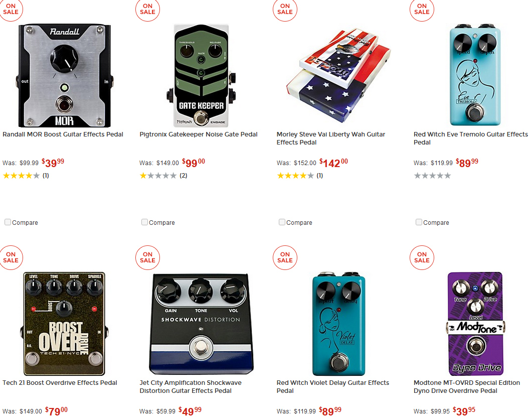 Special Markdown Deals on Effects/Amps at GuitarCenter!