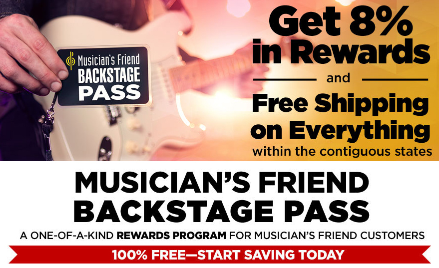 Musician's Friend Backstage Pass