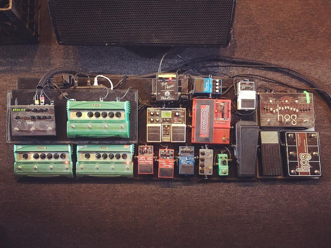 Pedalboard David Knudson of Minus the Bear