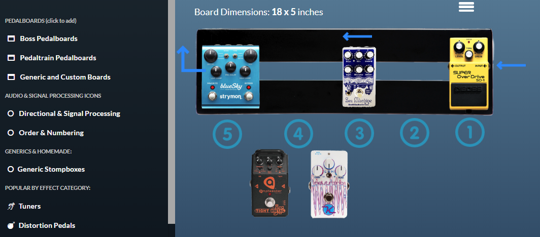 guest post pedalboard signal chain order with an overdrive effects bay. Black Bedroom Furniture Sets. Home Design Ideas