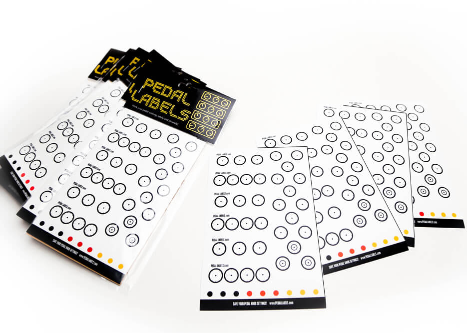 Pedal Labels Pack